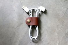 Leather Cable Band, $15.00