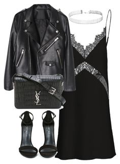 Untitled #3205 by theeuropeancloset on Polyvore featuring Shoe Cult, Yves Saint Laurent and Forever 21