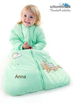 Schlummersack Schlafsäcke mit Namensstickerei personalisieren!