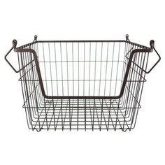 DII Stackable Metal Utility Storage Bin for Heavy Duty Use In Office Craft Room Kitchen Pantry or Garage Bronze – Large * More info could be found at the image url. (This is an affiliate link) Metal Storage Containers, Metal Bins, Metal Baskets, Large Baskets, Storage Baskets, Ikea Storage Boxes, Under Bed Storage, Cube Storage, Food Storage