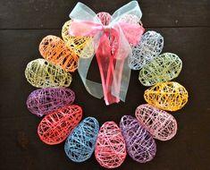 DIY - String Egg Wreath