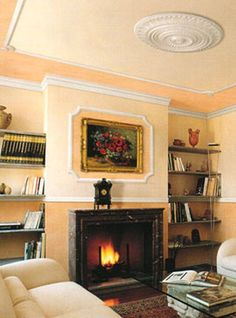 Rozeta este bijuteria perfecta pentru tavan! Cu ajutorul ei obtii o nota de profunzime camerei! Decor, Home Decor, Fireplace