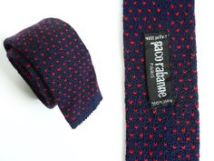 Skinny Tie Square End Hipster Tie Wool 90s Paco by hanniandmax, $29.00 #mensfashion #streetstyle #90s