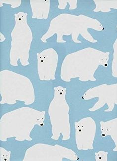 Polar Bears Rolled Gift Wrap Paper