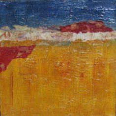 Earth Patterns - Collage, molding paste, acrylic paint, Nova Lava Gel.