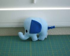 Elephant Pillow Elephant Toy Elephant Plush by WinterPetals