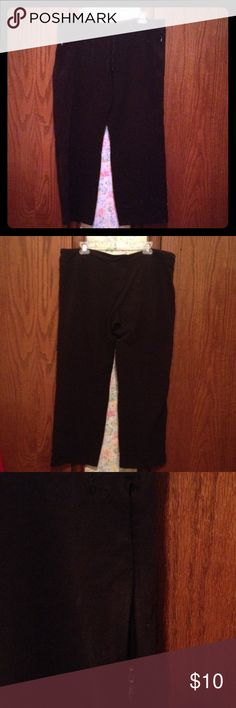 Danskin Capris Danskin capris with drawstring elastic waist and zipper pockets. Very comfortable for athletics. 84% Cotton 11% Polyester 5% Spandex Machine wash warm on gentle cycle. Tumble dry on low. Excellent Condition. Danskin Pants Track Pants & Joggers