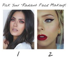 """""""Pick Your Radiant Face Makeup"""" by niniko-cosmetics ❤ liked on Polyvore featuring beauty and Niniko"""