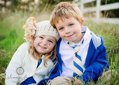 Brother and Sister...oh my goodness! This is the sweetness I have to look forward to! thank You Lord! and of course royal blue is my fave color :) I'll be repeating this pic!!! <3