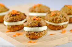 Chewy Carrot Cake Cookies Filled with Cream Cheese Frosting