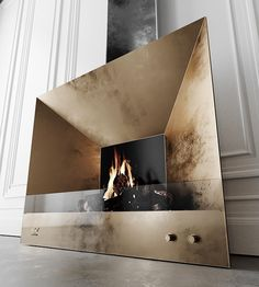 Fireplace for apartments without a chimney. Ethanol Fireplace, Fireplace Wall, Fireplace Design, Fireplace Ideas, Wall Design, House Design, Unique Restaurants, Design Furniture, Modern Interior Design