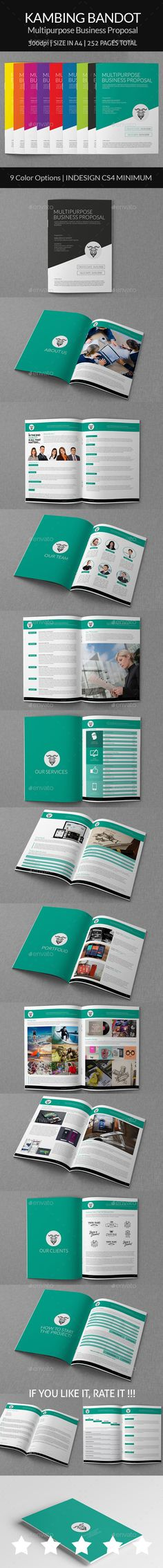 Business Project Proposal Template InDesign INDD #design Download - graphic design proposal template