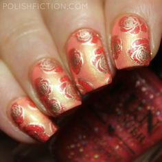 Femme Fatale Sunrise Funfair and F.U.N Lacquer Garden of Peonies stamping decals