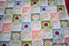 Star Granny Square - free pattern