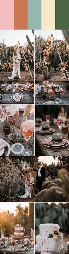 Romantic and Trendy Millennial Pink Wedding Color Palettes Millennial pink + copper + soft sage + wh Wheat Wedding, Boho Wedding, Floral Wedding, Wedding Bouquets, Trendy Wedding, Wedding Ideas, Wedding Dresses, Wedding Color Pallet, Pink Wedding Colors