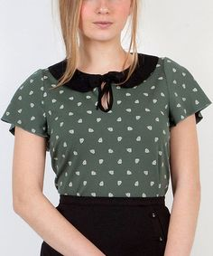 Take a look at this Green Baby Piñas Top by Titis Clothing on #zulily today!