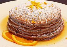 Chocolate Ricotta Pancakes with Orange Maple Syrup From The Art of Breakfast by Dana Moos Serves 4 Ingredients: 1 cup Ricotta 1 cup milk...