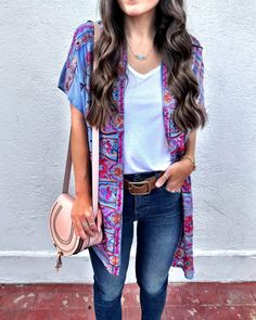 Fall Kimono outfit | Cute date night outfit