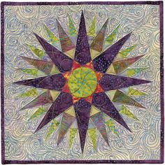 Mystical Compass by Sandy Rice.  2012 AAQI quilt.  Posted by Quilted Jonquil