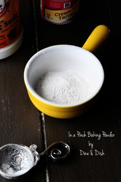 In a pinch if you realize you are out of Baking Powder here's how you can make a Baking Powder Substitute - works like a charm in recipes!!
