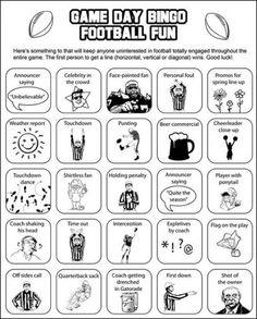 Another Super Bowl bingo