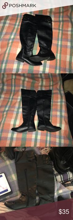 EUC leather knee boots size 7 by Forever 21 EXCELLENT CONDITION Forever 21 Shoes Over the Knee Boots