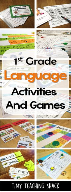 These language activities are perfect for first and second graders. It's also great for esl students! :) There are task cards, puzzles, sorting cards, games, and simple activities.