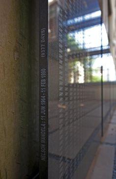 Black granite plaque depicting the days that Nelson Mandela spent in captivity. Johannesburg Africa, Black Granite, Nelson Mandela, Constitution, Luxury Travel, Day, Bill Of Rights