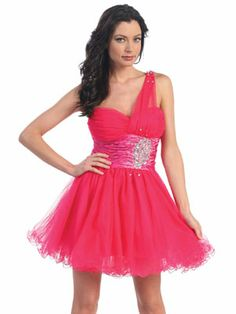 Jewel Accent w/Tulle Short Prom Dress- turquoise?