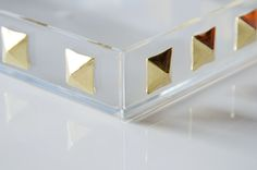 Make this Gold Studded Tray, perfect to highlight pieces in your Stella & Dot display!