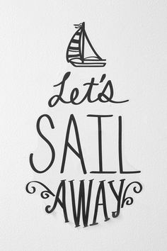 Sail Away Wall Decal from Urban! Super cute & would look so cute on my wardrobe door! :)