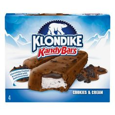 Klondike Cookies and Cream Kandy Bars Ice Cream Treats, Ice Cream Toppings, Ice Cream Flavors, Cookies And Cream, Strawberry Dream Cake Recipe, Order Ice Cream, Butterfly Snacks, Klondike Bar, Cookie Crunch