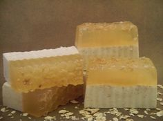 Oatmeal, Milk and Honey Soap Bar.  Purrrrty