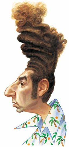 Ok, this might be a slight exaggeration, but Kramer's hair on Seinfeld was a classic!  What other sitcom hair sticks out to you?