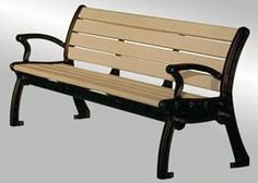 • Park Avenue Bench offers comfortable, classic styling using low maintenance components.  • 2 seating styles: flat (Model BC3001) or with backrest (Model BC4001) in 4, 5, 6 or 8 ft. lengths (8 ft. benches use 3 frames).  • Cast aluminum frames. Available in 6 colors of polyester powder coat finish: hunter green, red, brown, black, dark gray, white.