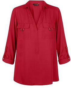 Shop Burgundy D-Ring Double Pocket Roll Sleeve Shirt . Discover the latest trends at New Look. Burgundy Top, How To Roll Sleeves, Red Shirt, Chic Dress, Shirt Sleeves, New Look, Fashion Online, Latest Trends, Cool Outfits