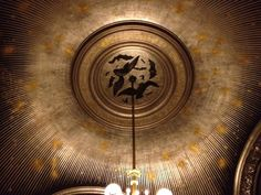 Another ceiling rosette. Rosettes, Opera, Old Things, Ceiling, Paris, Home Decor, Home, Ceilings, Montmartre Paris