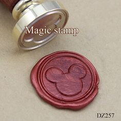 Mickey Wax Seal Stamp wedding stamp party wax seal by MagicStamp
