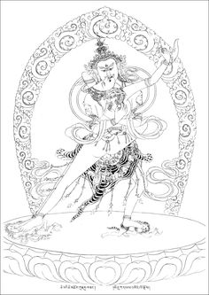 """deity """"Chakrasamvara"""" may be interpreted as """"joined to the wheel of supreme wisdom and bliss"""" in union with consort """"Vajravārāhī - The Diamond Sow"""". Other names for deity: """"Paramasukha - Greatest Blissfull Happiness"""" or """"Heruka"""". """"He-"""" meaning """"hey!"""" and """"ruka"""" - richness, royalty. Each syllable represents Emptiness: He [hei] is the nature of emptiness of all phenomena here and now. Ru- wind bowing through a channel - nature of emptiness of all beings, and Ka- the union of bliss and…"""