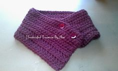 Ladies Crochet Button up Cowl by CraftinginStyle on Etsy