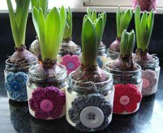 Original idea para decorar jacintos. Inspiracion ❥Teresa Restegui http://www.pinterest.com/teretegui/❥