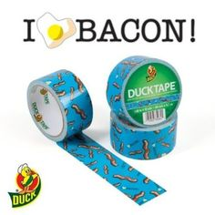 Duck Brand 281731 Bacon Printed Duct Tape, 1.88-Inch by 10 Yards, Single Roll - Amazon.com