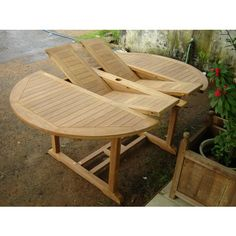 Double Extension Table Round Teak Table, Patio Table, Dining Table, Teak Garden Furniture, Outdoor Furniture Sets, Outdoor Decor, Round Garden Table, Tree Seat, Extension Table