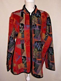 Women's Size 3X Coldwater Creek Coat Zipper Mandarin Collar  #ColdwaterCreek #BasicJacket #Multiple