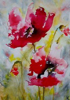 Saatchi Online Artist Karin Johannesson; Painting, Red Poppies