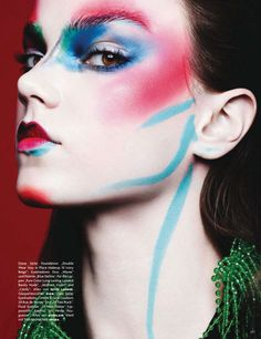 Magazine: Vogue Germany January 2014 Title: Color Codes Photographer: Ben Hassett (website) Model: Jenna Earle and Holly Rose Emery Fashion Editor: Karen Kaiser Hair: James Rowe Make up: Marla Belt