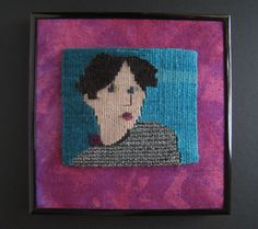 Button Shirt handwoven tapestry portrait by RuthManningTapestry, $100.00