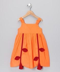Take a look at this Orange Vine Dress - Toddler & Girls by Alouette on #zulily today!