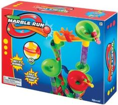 Marble Run 80 Piece by Toysmith. $16.39. Easy to assemble, bright, colorful sturday plastic pieces to create your own course. Includes 30 marbles to run through your unique marble run course. Includes 80 pieces of connecting marble run sections to build endless variations. From the Manufacturer                This 80 piece Marble Run game is easy to assemble and provides hours of fun. You can create endless marble runs for variety. 30 marbles are included to watch the...