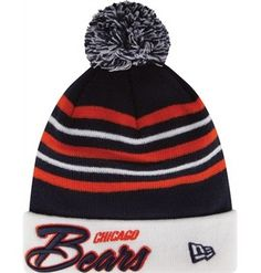 Chicago Bears Snow Stripe Knit Cap